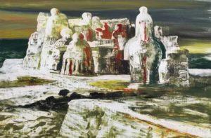 S. Fiume, Isola di Statue, olio su masonite, cm 36x54 anni 50